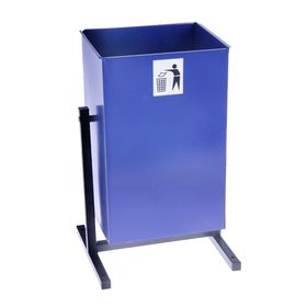 Урна для мусора «Уралочка-3», 25 л, цвет синий Ош