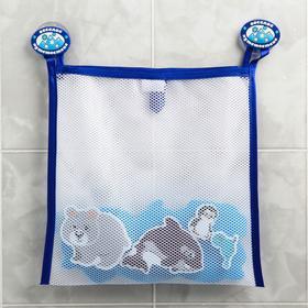 Наклейки в ванную из EVA «Животные Севера» + сетка для хранения игрушек на присосках Ош