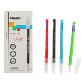 Ручка шариковая Mazari Jazzy Ultra Soft, 0.7 мм, синяя, корпус МИКС