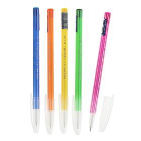 Ручка шариковая Mazari Caramel Ultra Soft, 0.7 мм, в дисплее, синяя, корпус МИКС