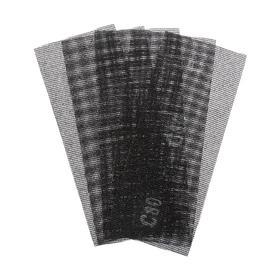 Сетка абразивная TUNDRA PRO, водостойкая, карбид кремния, 115 х 280 мм, Р80, 5 шт. Ош