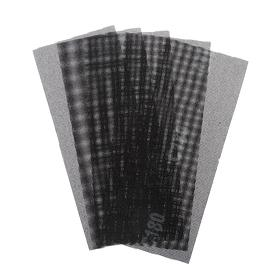 Сетка абразивная TUNDRA PRO, водостойкая, карбид кремния, 115 х 280 мм, Р180, 5 шт. Ош