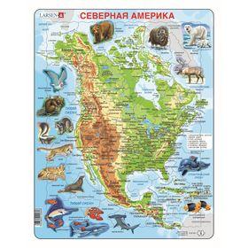 Пазл «Животные Северной Америки», 66 деталей (A32)