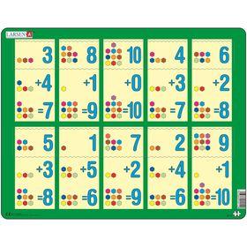 Пазл «Сложение 1-10b», 10 деталей (AR12)
