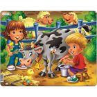Пазл «Дети на ферме. Корова», 18 деталей (BM5)