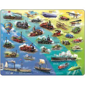 Пазл «История транспорта», 54 детали (HL7)