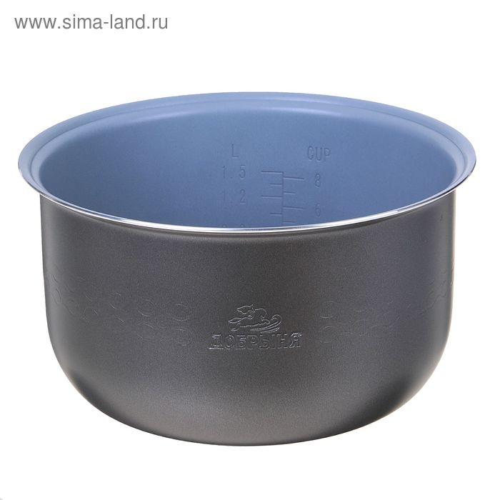 "Чаша для мультиварки ""Добрыня"" DO-11 non-stick, 4 л, антипригарная, серая"