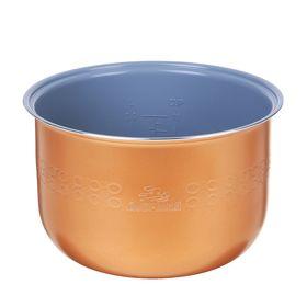 Чаша для мультиварки 'Добрыня' DO-12, 5 л, антипригарная, коричневая Ош