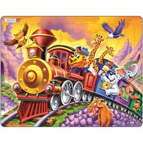 """Пазл """"Поезд с цирком"""", 30 деталей (US14)"""