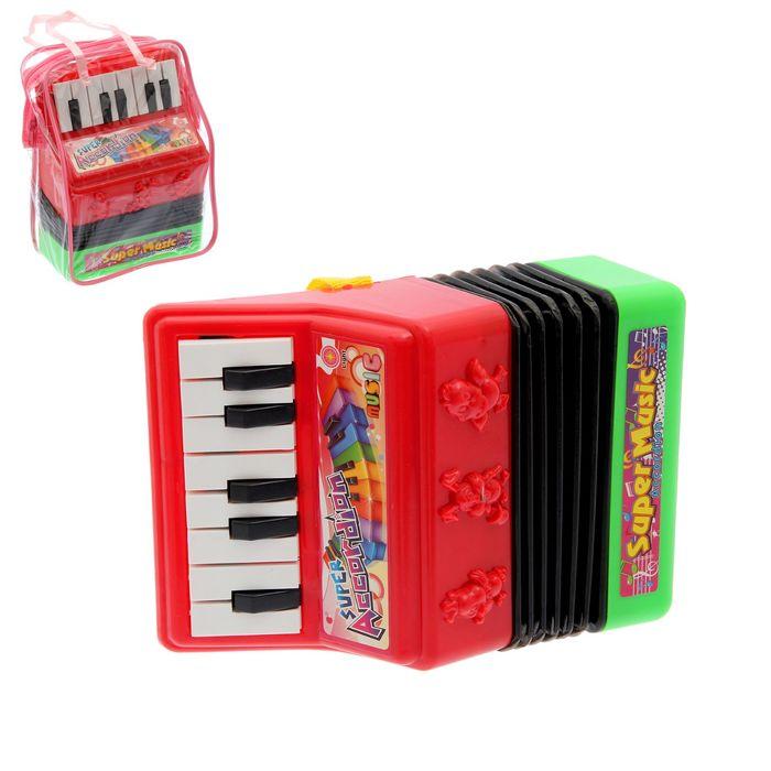 Музыкальная игрушка гармонь Звери, световые и звуковые эффекты, МИКС