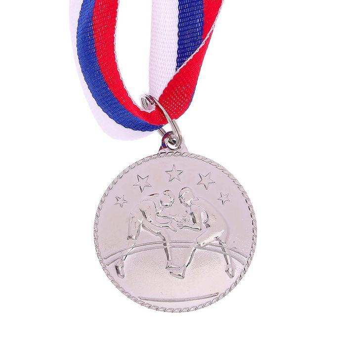 Медаль тематическая «Вольная борьба», серебро, d=3,5 см