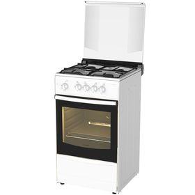 Плита Darina 1 B GM 441 105 W, газовая, 4 конфорки, 43 л, газовая духовка, белая Ош