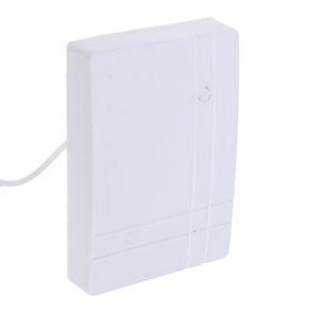 """Звонок электрический """"Чистон-12"""", проводной, с кнопкой, 2хАА, белый"""