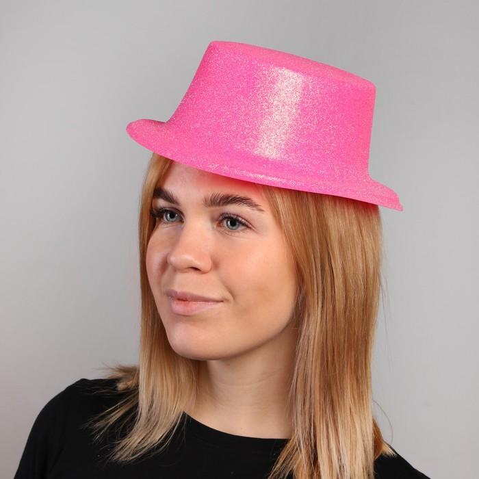 Карнавальная шляпа Цилиндр, р-р. 56, цвета МИКС