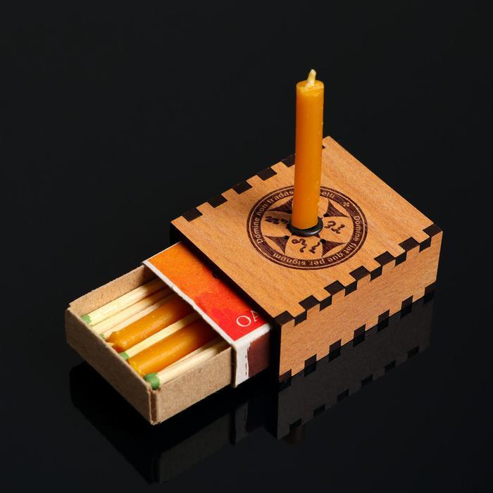 """Набор ларец желаний """"Будь счастлив"""" со свечками, 5,2х4,5х2 см"""