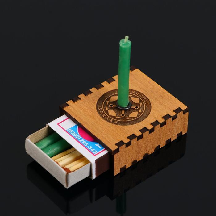 """Набор ларец желаний """"Новая работа"""" со свечками, 5,2х4,5х2 см"""