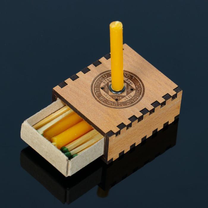 """Набор ларец желаний """"Успех в начинаниях"""" со свечками, 5,2х4,5х2 см"""
