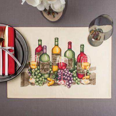 """Салфетка на стол """"Виноград""""30х40 см, текстиль"""