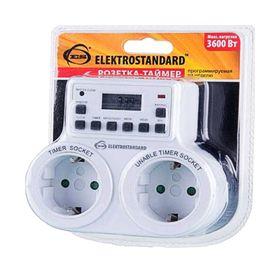Розетка-таймер Elektrostandard TMH-E-5 ES, электронная, 10 программ, IP20 Ош