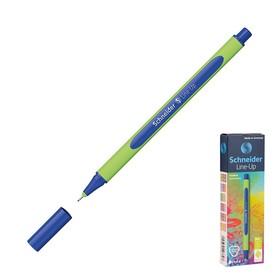Ручка капиллярная Schneider Line-Up 0.4 мм корпус Soft ,водо-и светостойкие, синяя Ош
