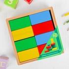 Кирпичики цветные, 16 деталей, в деревянной коробке - Фото 2