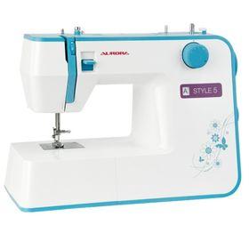 Швейная машина Aurora Style 5, 70 Вт, 19 операций, полуавтомат, бело-голубая Ош