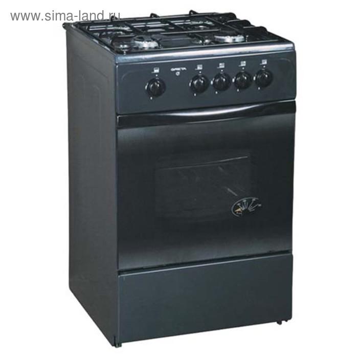 Плита газовая Greta 1470-00-07, 4 конфорки, 58 л, газовая духовка, черная