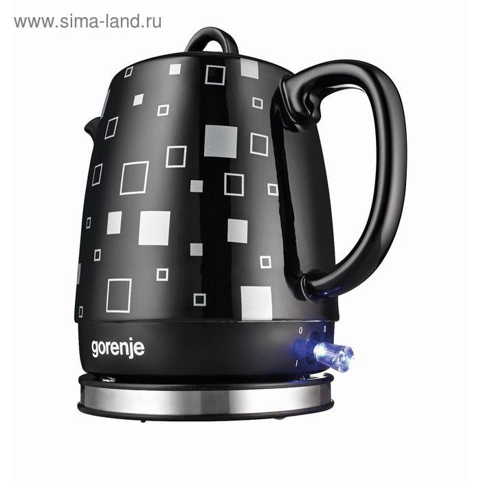 Чайник электрический Gorenje K10BKC, 1630 Вт, 1 л, керамика, черный