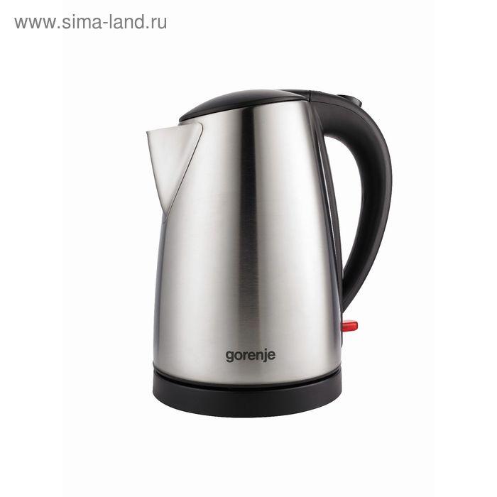 Чайник электрический Gorenje K17FE, 2200 Вт, 1.7 л, металл, серебристый