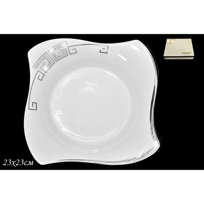 Глубокая тарелка Givanchi Platinum, d=23 см, в подарочной упаковке