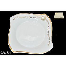 Глубокая тарелка «Золотая цепь», d=23 см, в подарочной упаковке Ош