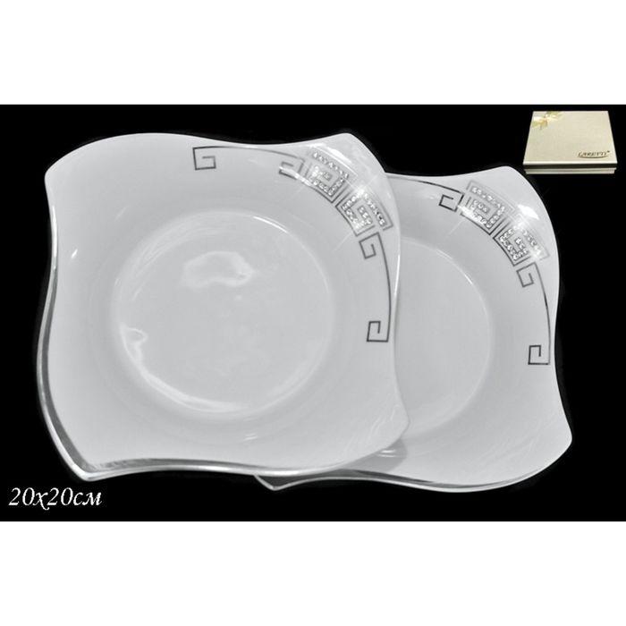 Набор из 2 глубоких тарелок Givenchi Platinum, d=20 см, в подарочной упаковке
