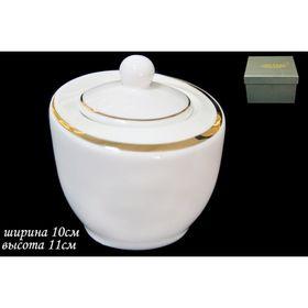 Сахарница с крышкой «Золотая лента», в подарочной упаковке Ош
