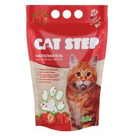 Наполнитель силикагелевый Cat Step 3.8л (1.8кг),  клубника Ош