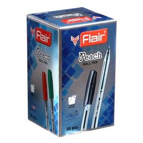 Ручка шариковая Flair Peach, узел-игла 0.7 мм, масляная основа, треугольный корпус, стержень синий