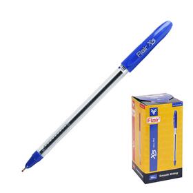 Ручка шариковая Flair X-5, узел-игла 0.7 мм, масляная основа, стержень синий