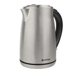 Чайник электрический Vitek VT-7020 ST, металл, 1.7 л, 2000 Вт, серебристый