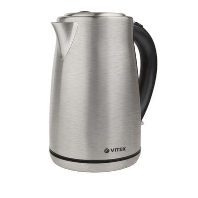 Чайник электрический Vitek VT-7020 ST, металл, 1.7 л, 2000 Вт, серебристый - Фото 1