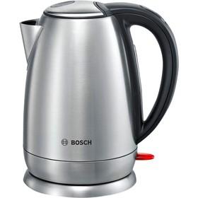 Чайник электрический Bosch TWK78A01, металл, 1.7 л, 2200 Вт, серебристый