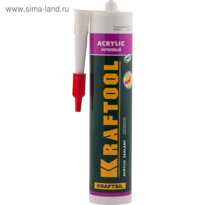 Герметик  KRAFTOOL, акриловый, белый, 300мл