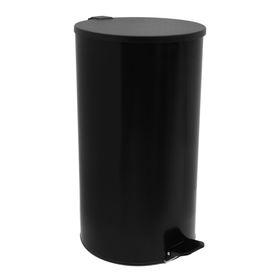Урна с педалью 40 л, цвет черный