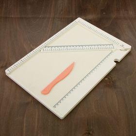 Доска для биговки (сгибов) многофункциональная 34,4х24х0,95 см (DDB-01) Ош