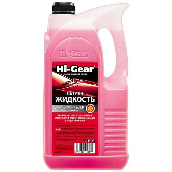 Стеклоомывающая жидкость HI-GEAR летняя, 4 л