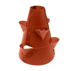 Клумба конусная, d = 15–45 см, h = 60 см, коричневая Ош