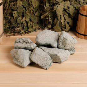 Камень для бани 'Порфирит' галтованный, коробка 20кг Ош
