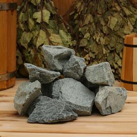 Камень для бани 'Gabbro-diabase' колотый, коробка 20 кг Ош