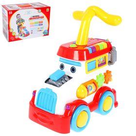 Каталка-ходунок «Машинка» с развивающими элементами и звуковыми эффектами Ош
