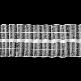Шторная лента классическая, органза, 4 см, 50 ± 1 м, цвет белый Ош