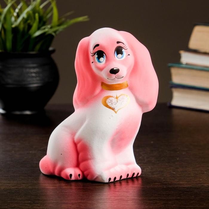 Копилка Пудель 11х7х14см, розовый
