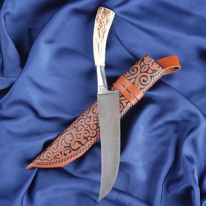 Пчак Шархон, рукоять из рога косули, гарда из олова